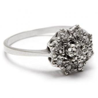 Antique Style Diamond Ring Photos