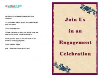 Fuchsia Engagement Invitation
