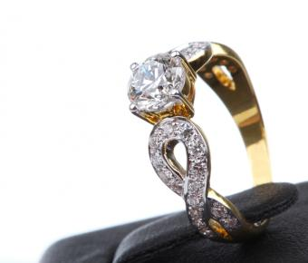 gold with pave