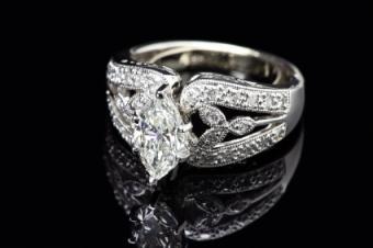 elaborate oval diamond ring