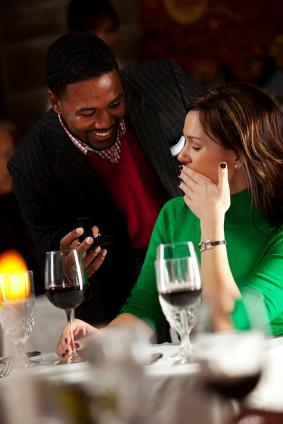 Proposal at a restaurant