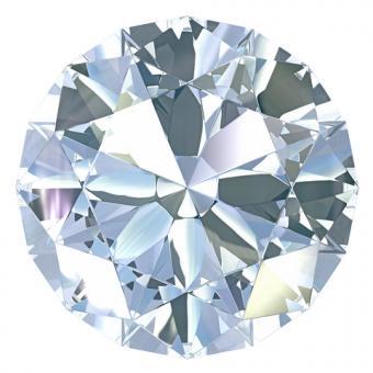 Round cut diamond; Copyright Zelfit at Dreamstime.com