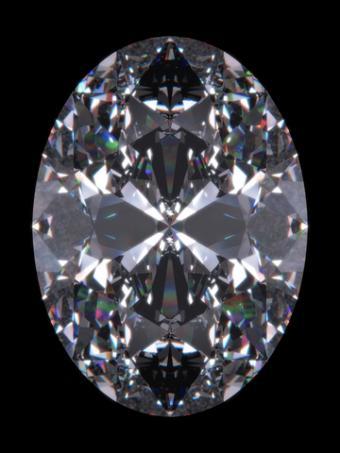 Oval cut diamond; Copyright Sellingpix at Dreamstime.com