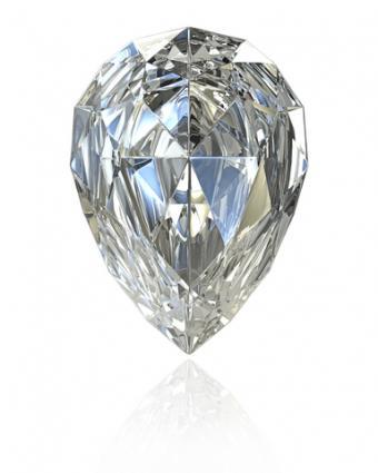 Pear cut diamond; Copyright Zelfit at Dreamstime.com