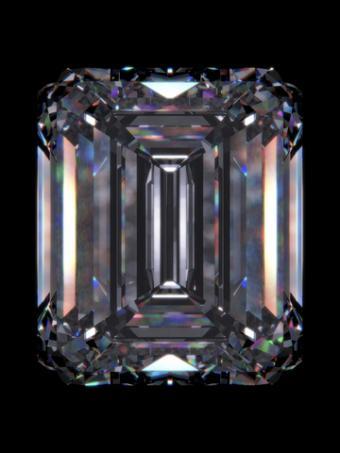 Emerald cut diamond; Copyright Sellingpix at Dreamstime.com