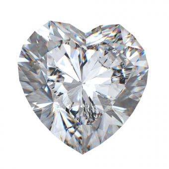 Heart cut diamond; Copyright Rozaliya | Dreamstime.com
