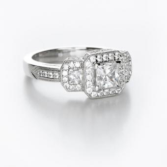 Bezel Set Engagement Ring