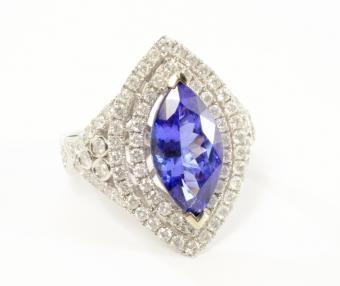 Gemstone and Diamond Ring