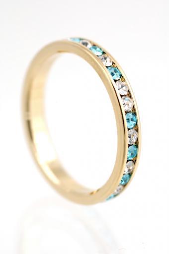 Diamond and Gemstone Eternity Ring