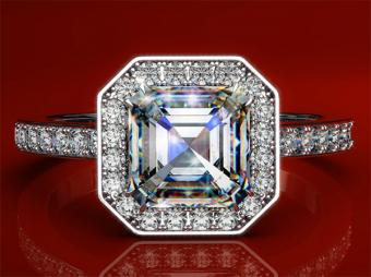 Asscher Cut Diamond Ring Gallery