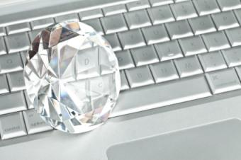 Diamond and laptop