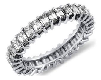 Emerald Cut Diamond Wedding Rings