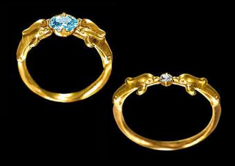 Finding Dolphin Engagement and Wedding Rings