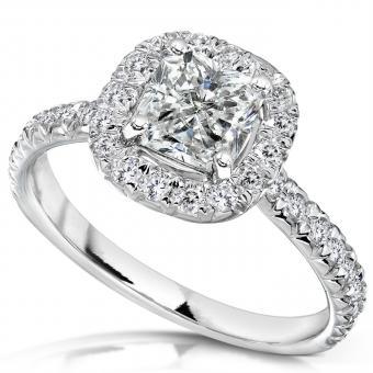 White Gold Radiant-Cut Diamond Ring from Amazon.com