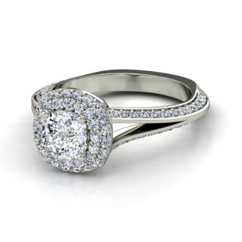 Cushion Cut Diamond Ring Pictures