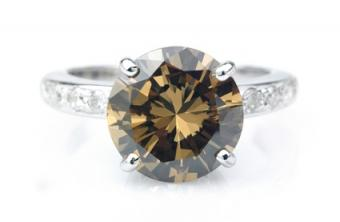 Champagne Colored Diamond Engagement Rings