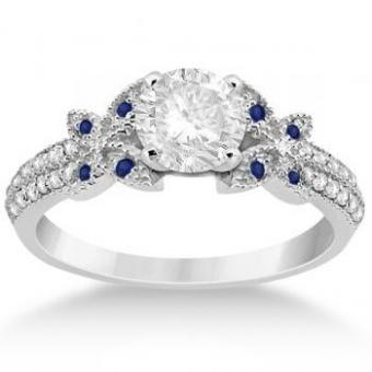 Diamond Butterfly Engagement Ring