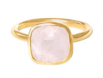Claire Gold Moonstone Ring by Fig Tree Jewelry