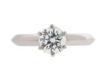 Tiffany Diamond Engagement Ring in Platinum from Beladora | Photo © Beladora