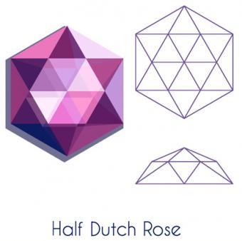 Illustration of a half Dutch rose cut gem