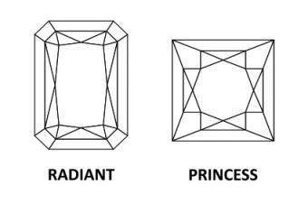 Princess Cut Diamond Versus Radiant Cut