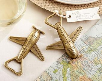 Let the Adventure Begin Airplane Bottle Openers