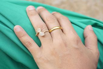 Statement engagement ring