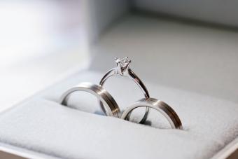 Cobalt wedding set