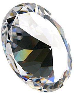 Image of a round, brilliant cut diamond