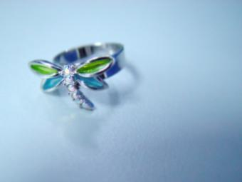 Dragonfly Figural Engagement Ring