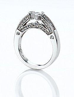 Image of a designer engagement ring