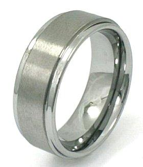 Image of a man's tungsten wedding ring