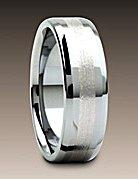Photo of an inlaid tungsten wedding ring