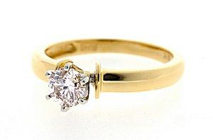 Image of a basic diamond solitaire engagement ring