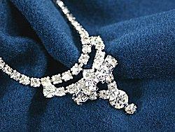 Elaborate cubic zirconia necklace