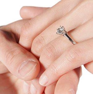 Proposing with a diamond solitaire engagement ring