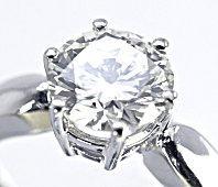 Brilliant diamond solitaire ring
