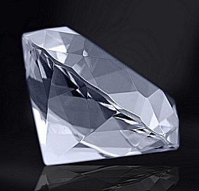 Closeup of a cut diamond