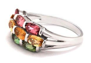 Bulgari gemstone rings are brightly colored.