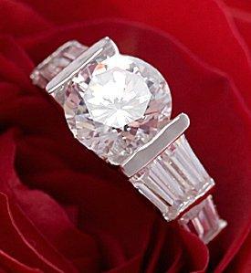 Floating Diamond Engagement Rings