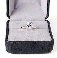 Engagement ring in its own jewelry box