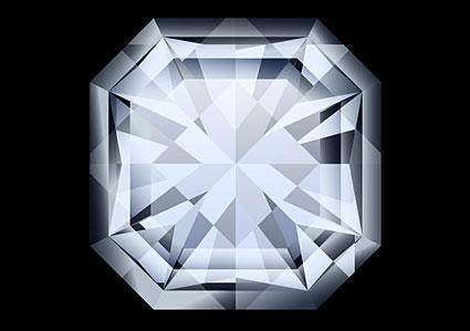 Asscher cut gemstone ring.