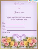 Floral Rings Invitation
