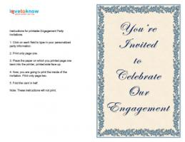 Blue Celebrate Engagement Invitation