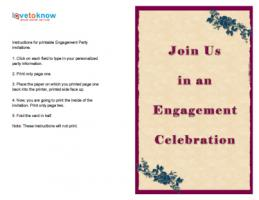 Fuchsia Engagement Invitation  Format Of Engagement Invitation