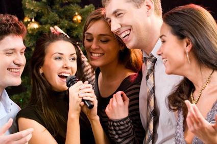 karaoke at a party
