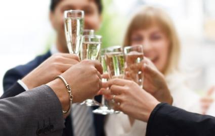 toast to an engaged couple