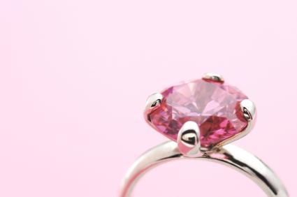 pink diamond ring - Pink Diamond Wedding Rings