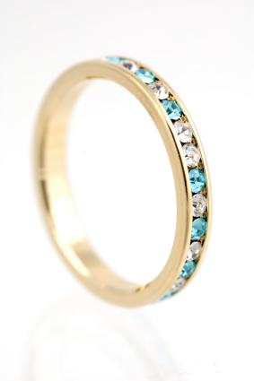 Diamond and Gemstone Eternity Ring