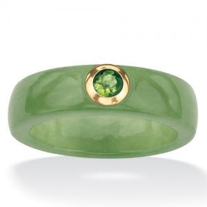 Green Jade and Peridot Ring at Amazon.com